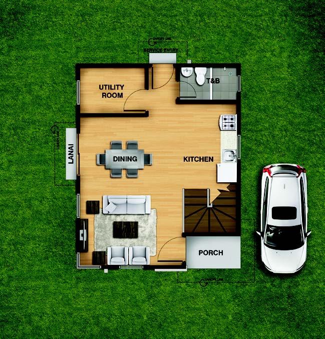 Trista Ground Floorplan
